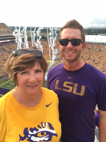 Momma & me at LSU game - 2016