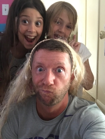 Getting an update on my hair from Ansley & friend