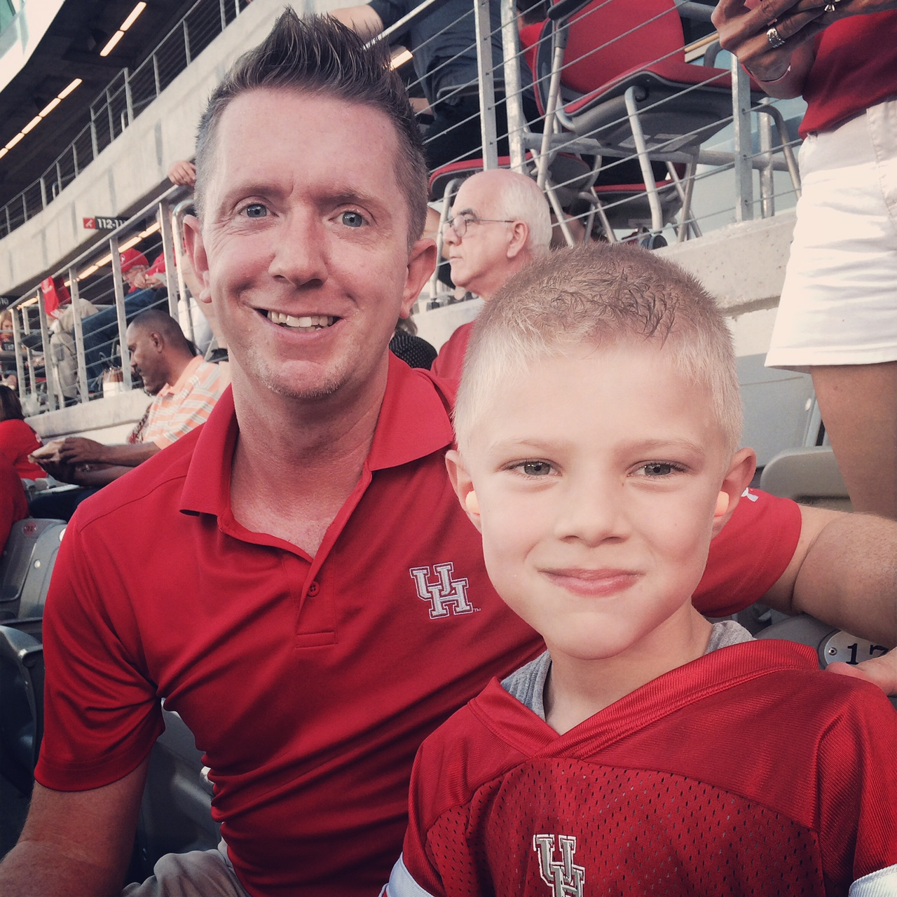 Jaxon's first Cougar game.